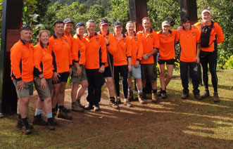 PUTP trekkers after walking the Kokoda Trail for PTSD in 2008